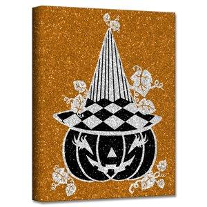 Ready2HangArt 'Glamoween Pumpkin IV' Halloween Wall Art - 12-in x 12-in