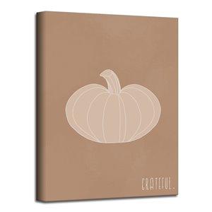 Ready2HangArt 'Minimal Pumpkin III' Fall Harvest Wall Art - 30-in