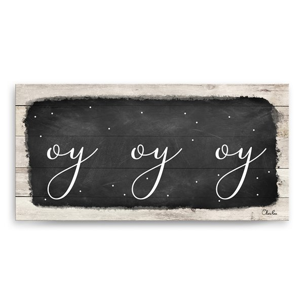 Ready2HangArt 'Oy Oy Oy I' Hanukkah Canvas Wall Art