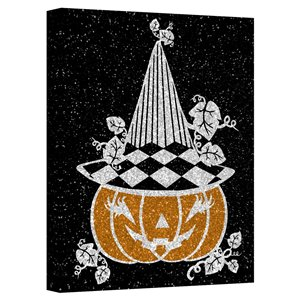 Ready2HangArt 'Glamoween Pumpkin V' Halloween Wall Art - 20-in x 20-in