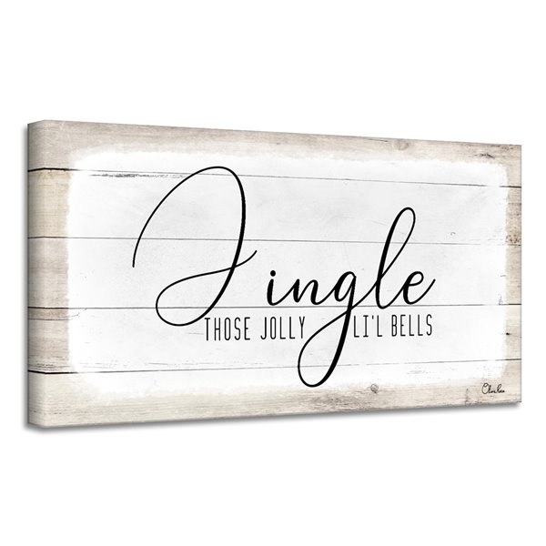 Ready2HangArt 'Jingle' Holiday Canvas Wall Art - 18-in x 36-in
