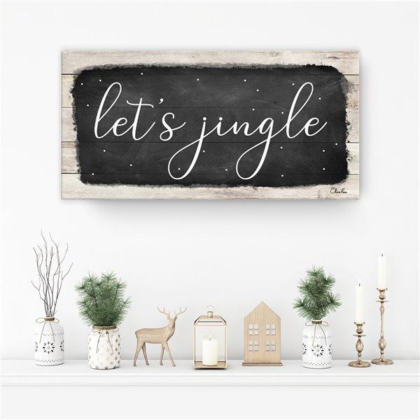 Ready2HangArt 'Let's Jingle' Canvas Wall Art - 8-in x 16-in