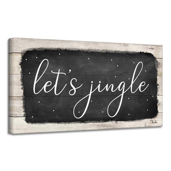 Ready2HangArt 'Let's Jingle' décoration murale , 8 po x 16 po