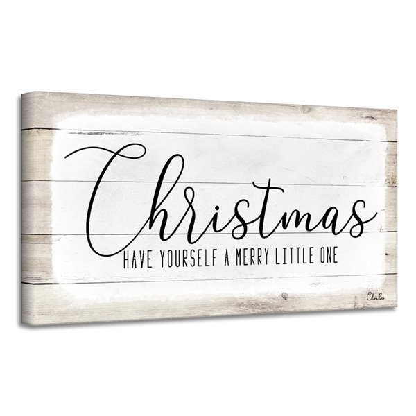 Ready2HangArt 'Merry Christmas II' Holiday Canvas Wall Art - 8-in x 16-in