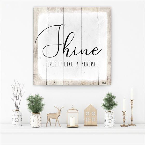 Ready2HangArt 'Shine' Hanukkah Canvas Wall Art