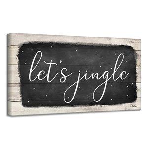Ready2HangArt 'Let's Jingle' décoration murale , 18 po x 36 po