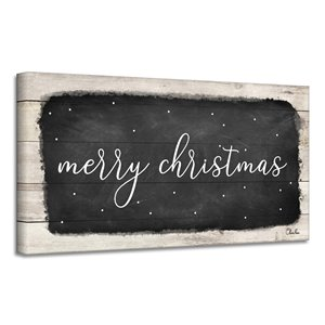 Ready2HangArt 'Merry Christmas I' Canvas Wall Art - 12-in x 24-in