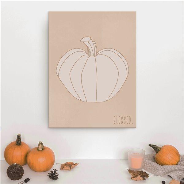 Ready2HangArt 'Minimal Pumpkin II' décoration murale , 40 po