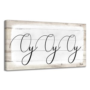 Ready2HangArt 'Oy Oy Oy II' Hanukkah Canvas Wall Art