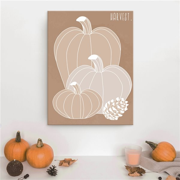 Ready2HangArt 'Minimal Harvest I' Fall Wall Art , 30 po