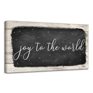 Ready2HangArt 'Joy to the World' Canvas Wall Art - 8-in x 16-in