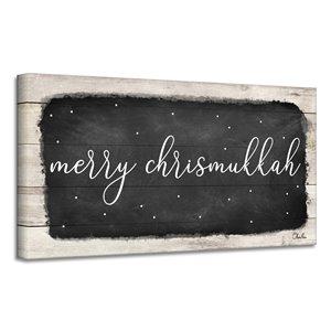 Ready2HangArt 'Merry Chrismukkah' Hanukkah Canvas Wall Art