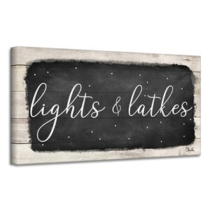 Ready2HangArt 'Lights & Latkes I' Hanukkah Canvas Wall Art