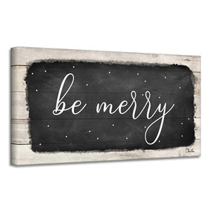 Ready2HangArt 'Be Merry' Canvas Wall Art - 12-in x 24-in