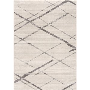 Rug Branch Savannah Mid-Century Modern Area Rug - Machine-Made - 5-ft x 8-ft - Off-White and Grey