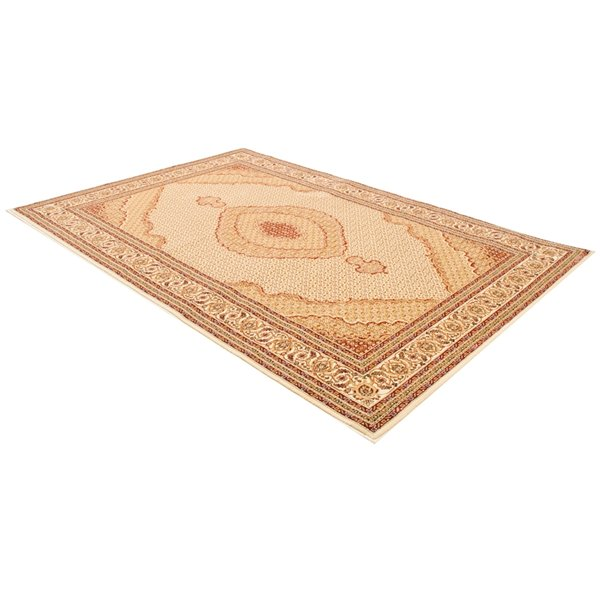 Rug Branch Majestic Vintage Rectangular Area Rug - Machine-Made - 8-ft x 11-ft - Cream and Beige