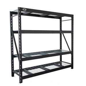 Caterpillar Industrial 5-Tier Free-Standing Shelving Unit - 24-in x 72-in x 72-in - Steel - Black