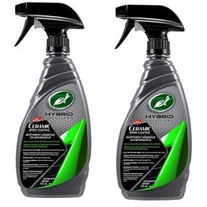 """Revêtement céramique en vaporisateur """"Hybrid Solution"""" de Turtle Wax, 473 ml, 2 bouteilles"""