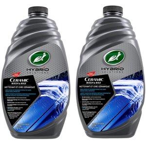 Cire de lavage céramique Hybrid Solution de Turtle Wax, 1,42 L, 2 / paquet