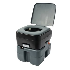 Reliance Flush N Go Portable Toilet - 12-L - Gray/Black