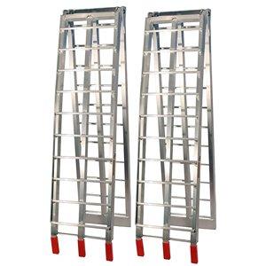 Rampes pliantes en aluminium Job Pro, 1 pi x 7 pi 6 po, 1 500 lb, argent