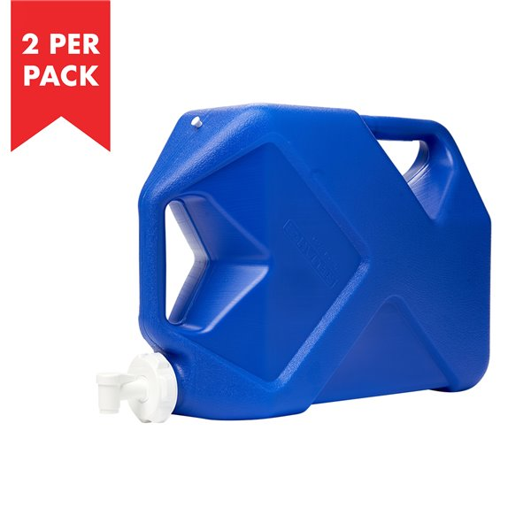 Reliance Jumbo Tainer 7 gal. Water Container - High-Density Polyethylene - 2/Pack