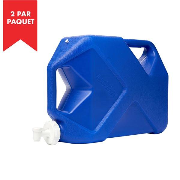 """Réservoir d'eau """"Jumbo Tainer"""" de Reliance, 7 gal, polyéthylène haute densité, paquet de 2"""