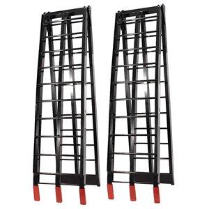 Rampes pliantes en aluminium de Job Pro, 1 pi x 7 pi 6 po, 1 500 lb, noir