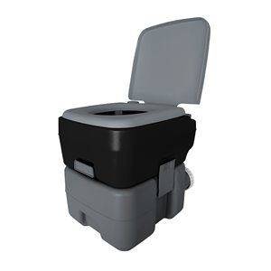 Reliance Flush N Go Portable Toilet 1020T - 10-L - Gray/Black