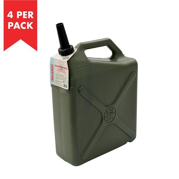 Reliance Desert Patrol 6-gal. Water Container - High-Density Polyethylene - 4/Pack