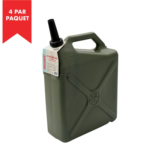 """Réservoir d'eau """"Desert Patrol"""" de Reliance, 6 gal, polyéthylène haute densité, paquet de 4"""