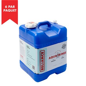 """Réservoir d'eau """"Aqua-Tainer"""" de Reliance, 7 gal, polyéthylène haute densité, paquet de 6"""