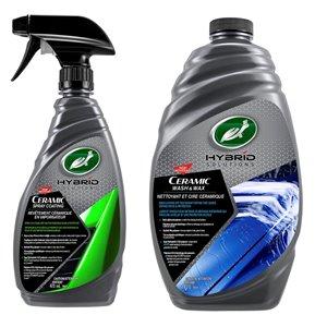 """Ensemble cire céramique nettoyante et revêtement céramique """"Hybrid Solution"""" de Turtle Wax, 2 bouteilles"""