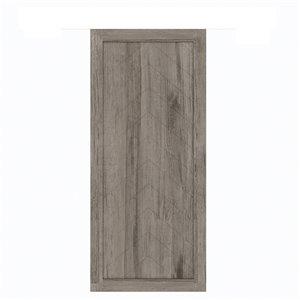 Porte de grange préfinie en MDF Herringbone de Colonial Elegance, 37 po x 84 po, vinyle gris