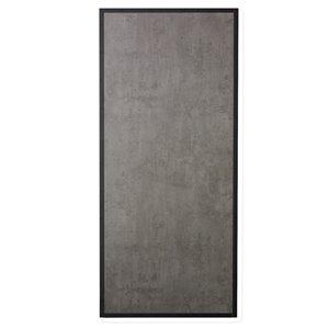 Porte de grange préfinie en MDF de Colonial Elegance, 33 po x 84 po, gris béton