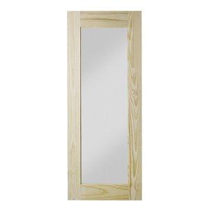 Porte de grange en bois de pin Reflex de Colonial Elegance, 37 po x 84 po, naturel