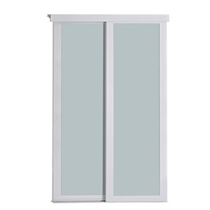 Porte coulissante en MDF  à 1 panneau Colonial Elegance et quincaillerie d'installation, 60 po x 80 po, blanc