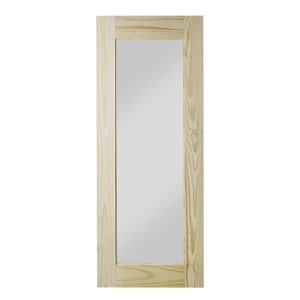 Colonial Elegance Reflex Unfinished Wood Barn Door - Pine - 33-in x 84-in - Natural