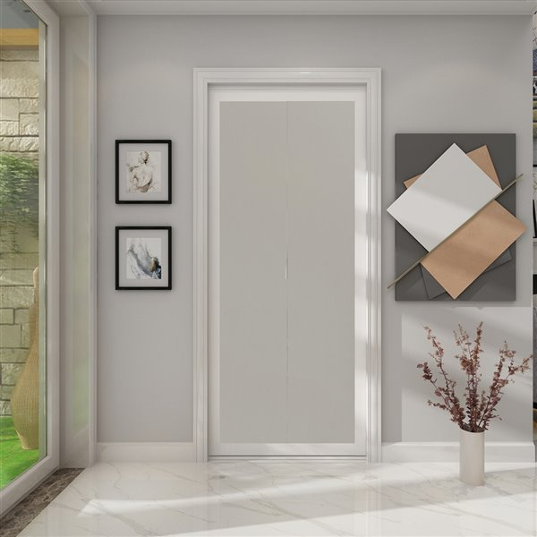 Colonial Elegance 1-Lite MDF Bilfod Closet Door with Mounting Hardware - 36-in x 80-in - White