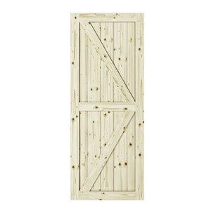 Porte de grange en bois de pin Artisan de Colonial Elegance, 37 po x 84 po, naturel