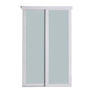 Porte coulissante en MDF  à 1 panneau Colonial Elegance et quincaillerie d'installation, 48 po x 80 po, blanc