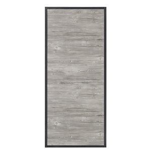 Porte de grange préfinie en MDF de Colonial Elegance, 33 po x 84 po, gris