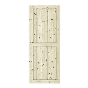 Colonial Elegance Ranch Unfinished Wood Barn Door - Pine - 42-in x 84-in - Natural
