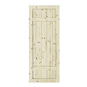 Porte de grange en bois de pin Barrel de Colonial Elegance, 33 po x 84 po, naturel