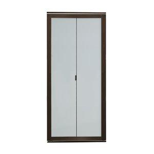 Porte pliante en MDF à 1 panneau Colonial Elegance et quincaillerie d'installation, 30 po x 80 po, moka
