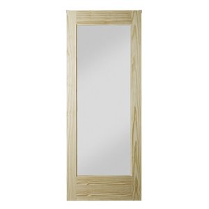 Colonial Elegance Unfinished Wood Barn Door - 1-Lite - Pine - 33-in x 84-in - Natural