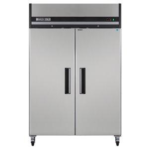 Réfrigérateur commercial X Series Maxx Cold à 2 portes, 49 pi³, acier inoxydable