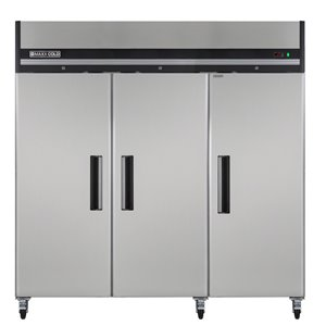 Congélateur commercial X Series Maxx Cold à 3 portes, 72 pi³, acier inoxydable
