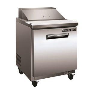 Table de préparation commerciale réfrigérée pour sandwich Maxx Cold, 29 po, acier inoxydable