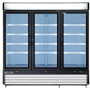 Réfrigérateur commercial X Series Maxx Cold, 3 portes, 72 pi³, blanc